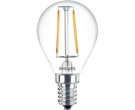 PHILIPS LED E14 CLASSIC FILAMENTOS 2.3W ESFERICA